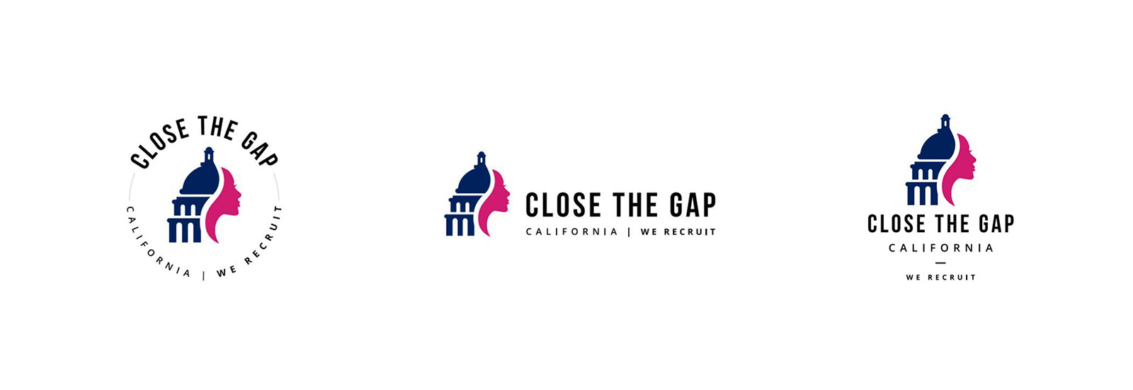 Close the Gap CA Logo Variations